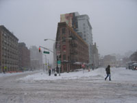 Blizzard in New York City